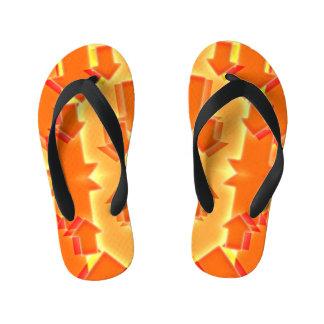 Little Orange Arrow Flip Flops