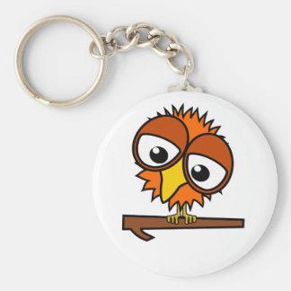 Little Orange Tweet Basic Round Button Key Ring