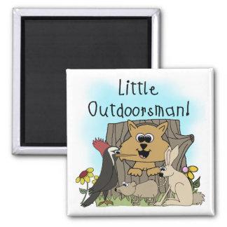 Little Outdoorsman Fridge Magnet