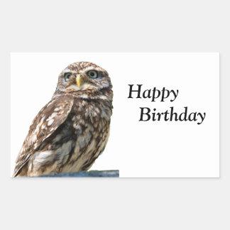 Little Owl bird happy birthday sticker, stickers
