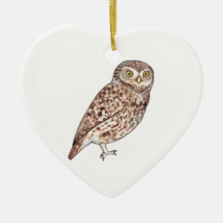 Little Owl Ceramic Heart Decoration