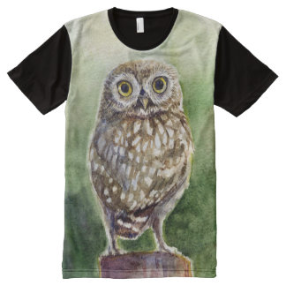 Little owl watercolor All-Over print T-Shirt