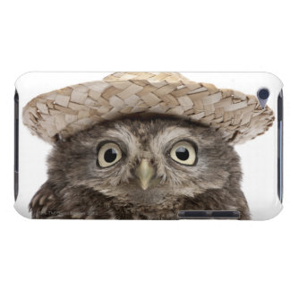 Little Owl wearing a straw hat - Athene noctua iPod Touch Case-Mate Case