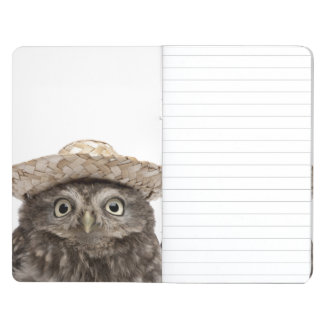 Little Owl wearing a straw hat - Athene noctua Journal