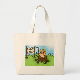 Little Owl's Math Lesson Jumbo Tote Bag