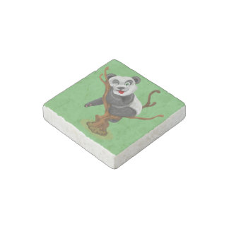 Little panda stone magnet
