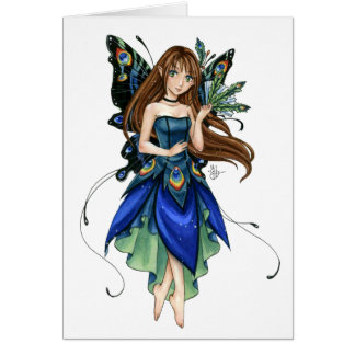 Little Peacock Fairy note card