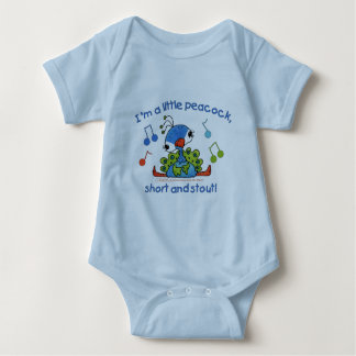 Little Peacock Short and Stout Baby Bodysuit