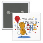 Little Peanut 1st Birthday Pinback Buttons