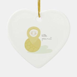 Little Peanut Ceramic Heart Decoration