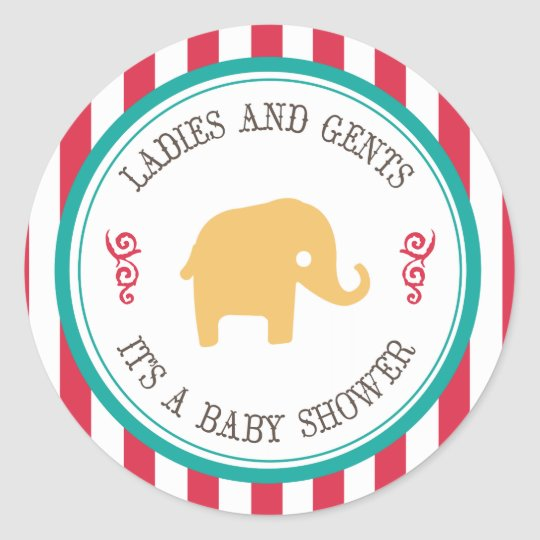 Little Peanut Circus Baby Shower Stickers