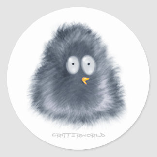 Little Penguin Critter Classic Round Sticker