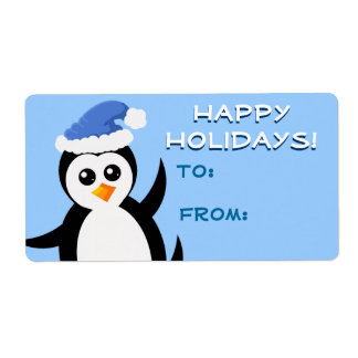 """Little Penguin"" Happy Holidays Gift Tags"