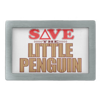 Little Penguin Save Rectangular Belt Buckles