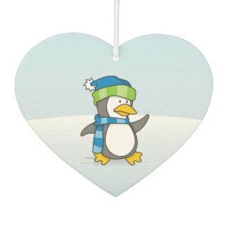 Little penguin walking on snow A little penguin ca