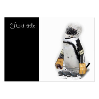 Little Penguin Wearing Hockey Gear Business Card Templates