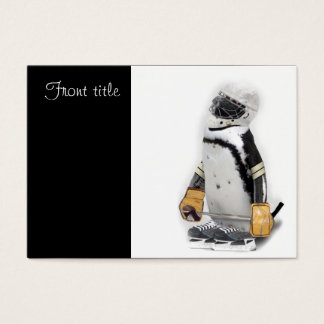 Little  Penguin Wearing Hockey Gear Business Card