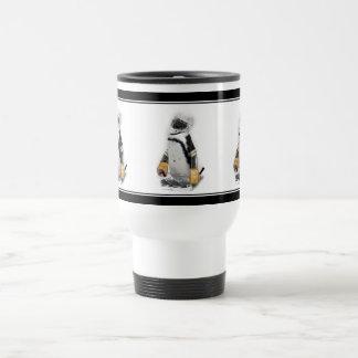 Little Penguin Wearing Hockey Gear Coffee Mugs