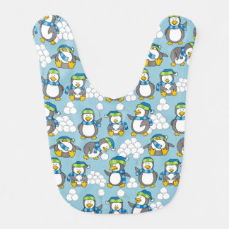 Little penguins background bib