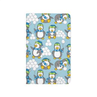 Little penguins background journal