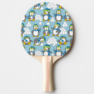 Little penguins background ping pong paddle
