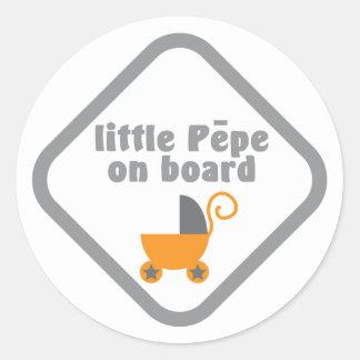 Little Pepe (Maori baby) on board Round Sticker