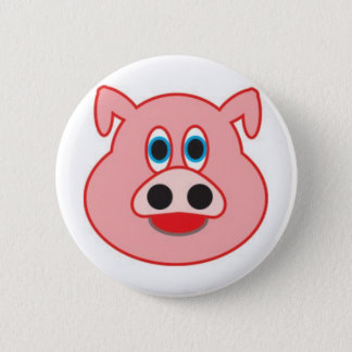 Little pig didactic illustration drawing pedagógic 6 cm round badge