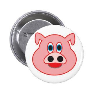 Little pig didactic illustration drawing pedagógic 6 cm round badge