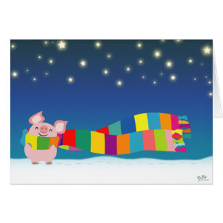 Little Pig s Christmas greeting card