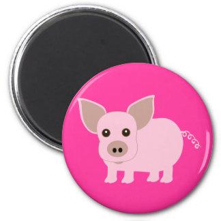 Little Piggie 6 Cm Round Magnet