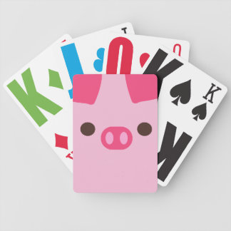 Little Piggy Bicycle Playing Cards