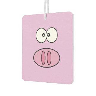 Little Piggy (Pig Face, Pig Nose) - Pink Black Car Air Freshener