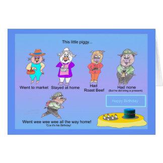 Little Piggy s Birthday Card