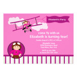 Little Pilot Aeroplane Birthday Party Invitation