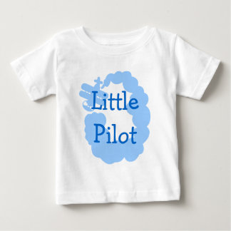 Little pilot baby t shirt with flying airplain