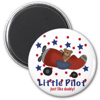 Little Pilot just like Daddy! 6 Cm Round Magnet