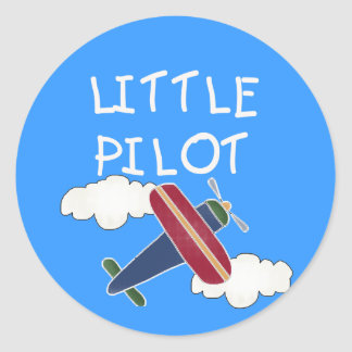 Little Pilot Tshirts and Gifts Classic Round Sticker