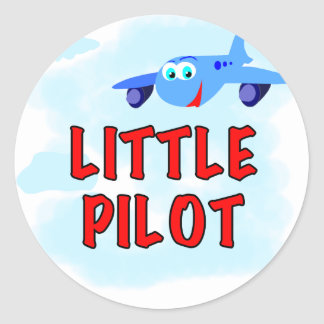 Little Pilot Tshirts and Gifts Round Sticker
