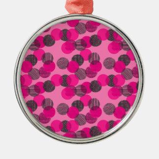 Little Pink Dots Christmas Ornament