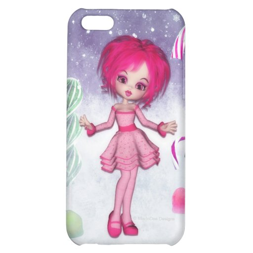 Little Pink Fantasy Girl Candy Theme iPhone 5C Case