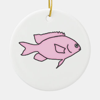 Little Pink Fish Christmas Ornament