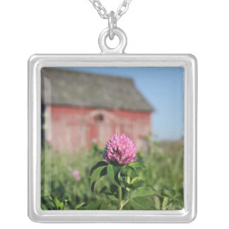 Little Pink Flower in a Field Necklaces