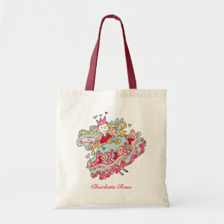 Little Pink Flower Princess Tote Bag