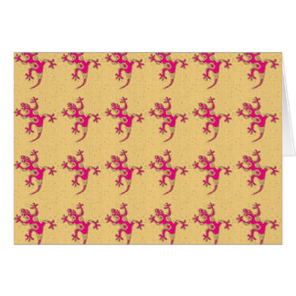 Little Pink Geckos Card