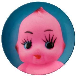 Little Pink Imp Plate Porcelain Plate