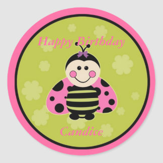 Little Pink Ladybug Sticker