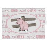 Little Pink Piglet Note Card