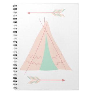 Little Pink TeePee Notebooks