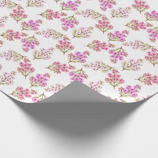 Little Pink Waxflowers Wrapping Paper