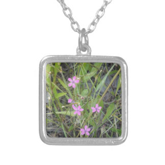 Little Pink Wildflowers Necklace